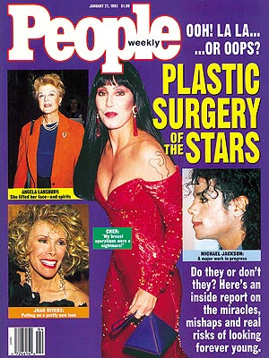 photo | Cher Cover, Plastic Surgery, Angela Lansbury, Cher, Joan Rivers, Michael Jackson