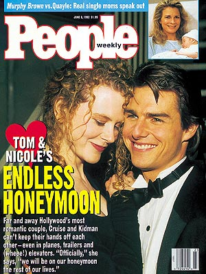 photo | 1990, Celebrity Love Stories, Most Romantic Couples, Nicole Kidman Cover, Tom Cruise Cover, Candice Bergen, Nicole Kidman, Tom Cruise