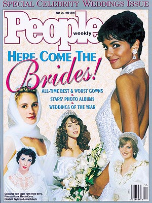 photo | Celebrity Wedding Albums, Halle Berry Cover, Mariah Carey Cover, Elizabeth Taylor, Halle Berry, Julia Roberts, Mariah Carey, Princess Diana