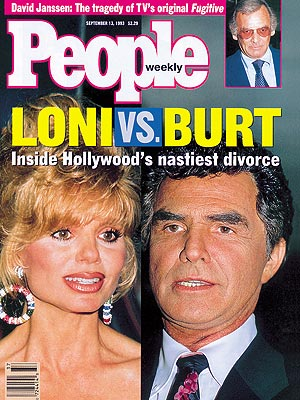 photo | Couples, Divorced, Burt Reynolds Cover, Loni Anderson Cover, Nasty Breakups and Divorces, Burt Reynolds, Loni Anderson