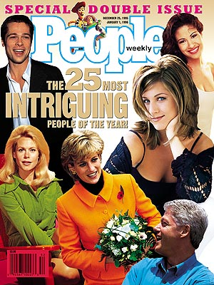 photo | Toy Story, Jennifer Aniston Cover, Most Intriguing on Covers, Bill Clinton, Brad Pitt, Elizabeth Montgomery, Jennifer Aniston, Princess Diana, Selena