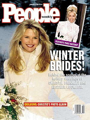 photo | Weddings, Celebrity Wedding Albums, Christie Brinkley Cover, Celebrity Weddings, Christie Brinkley, Heather Locklear