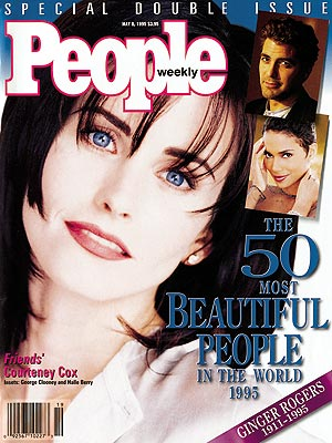 photo | Courteney Cox Cover, Most Beautiful on Covers, Courteney Cox, George Clooney, Ginger Rogers
