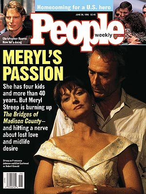 photo | The Bridges of Madison County, Clint Eastwood Cover, Meryl Streep Cover, Christopher Reeve, Clint Eastwood, Meryl Streep