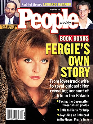 photo | Sarah Ferguson Cover, The British Royals, Leonardo DiCaprio, O.J. Simpson, Sarah Ferguson