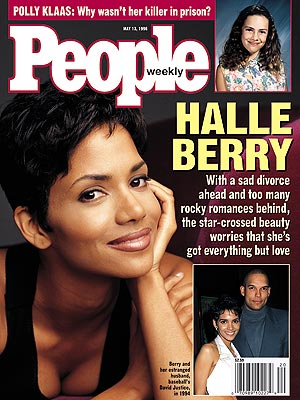 photo | Divorced, 1990, Halle Berry Cover, David Justice, Halle Berry