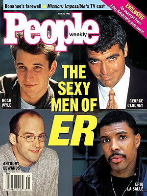 photo | ER, 1990, Anthony Edwards Cover, Eriq La Salle Cover, George Clooney Cover, Nighttime Soaps, Noah Wyle Cover, TV Milestones, Anthony Edwards, Eriq La Salle, George Clooney, Noah Wyle