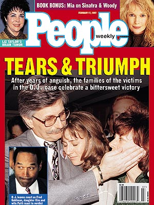 photo | Murder, OJ Simpson Trial, Fred Goldman Cover, Gripping News Stories, Historical Events, Kim Goldman Cover, Patti Goldman Cover, Coping and Overcoming Illness, Too Crazy to Believe, Elizabeth Taylor, Fred Goldman, Kim Goldman, Mia Farrow, Nicole Brown Simpson, O.J. Simpson, Patti Goldman