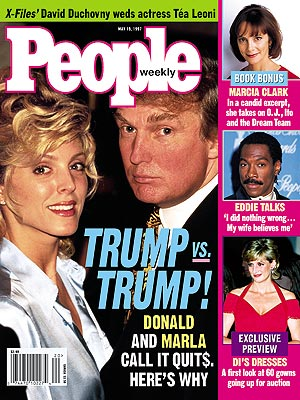photo | Couples, Donald Trump Cover, Bills, Bills, Bills, Nasty Breakups and Divorces, Donald Trump, Eddie Murphy, Marcia Clark, Princess Diana