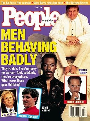 photo | Meltdowns, Eddie Murphy Cover, Bills, Bills, Bills, Stars Behaving Badly, Donald Trump, Eddie Murphy, Frank Gifford, Joseph Patrick Kennedy, Michael Kennedy