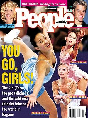 photo | Olympics, Ice, Ice Skating, Michelle Kwan Cover, Nicole Bobek Cover, Tara Lipinski Cover, Farrah Fawcett, Matt Damon, Michelle Kwan, Nicole Bobek, Tara Lipinski