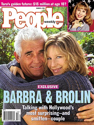 photo | Barbra Streisand Cover, Celebrity Love Stories, James Brolin Cover, Barbra Streisand, James Brolin, Tara Lipinski