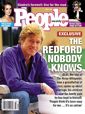 photo | Kids & Family Life, Robert Redford Cover, Barbara Sinatra, Robert Redford, Winona Ryder