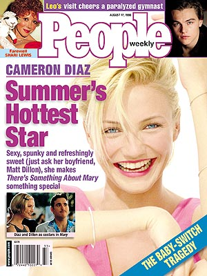 photo | 1990, Cameron Diaz Cover, Movies On Covers, Cameron Diaz, Leonardo DiCaprio, Matt Dillon, Shari Lewis