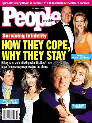  photo | Affairs, Couples, Bill Clinton Cover, Elizabeth Hurley Cover, Frank Gifford Cover, Hillary Clinton Cover, Hugh Grant Cover, Kathie Lee Gifford Cover, Bill Clinton, Elizabeth Hurley, Frank Gifford, Hillary Rodham Clinton, Hugh Grant, Kathy Lee Gifford