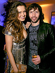 James Blunt Parties with Oscar Nominees | James Blunt, Petra Nemcova