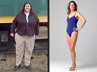 [塑身美体]人物杂志上美国mm减肥前后对比图 每个都减图片