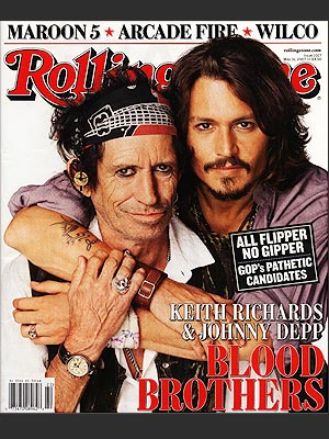 photo | Johnny Depp, Keith Richards