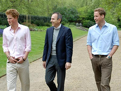 photo | Matt Lauer, Prince Harry, Prince William