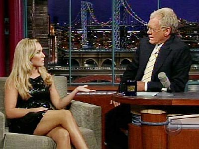  photo | David Letterman, Hayden Panettiere