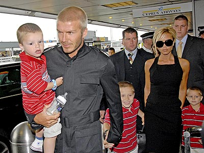HERE THEY COME! photo | David Beckham, Victoria Beckham