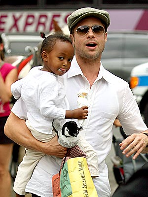 SMALL SCOOP photo | Brad Pitt, Zahara Jolie-Pitt
