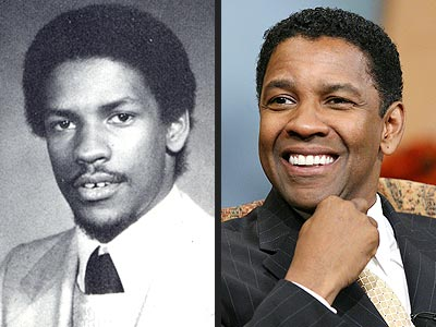 pic of Denzel Washington now n then