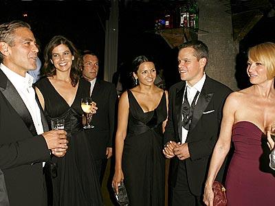 WRAP PARTY photo | Ellen Barkin, George Clooney, Jules Asner, Matt Damon