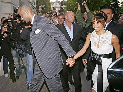 JUST MARRIED! photo | Eva Longoria, Tony Parker