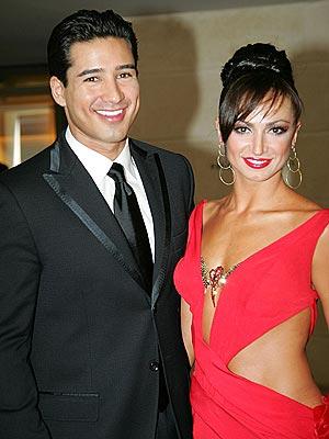 Karina Smirnoff and Mario Lopez
