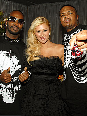 THREE&#39;S COMPANY photo | DJ Paul, Juicy J, Paris Hilton