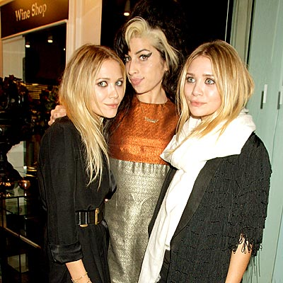 AMY & THE OLSENS photo | Amy Winehouse, Ashley Olsen, Mary-Kate Olsen