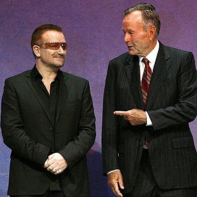 BONO & PRESIDENT BUSH  photo | Bono, George Bush