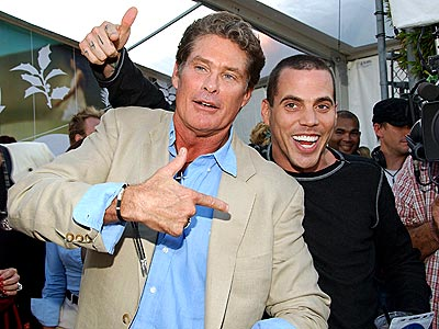 THE HOFF & STEVE-O  photo | David Hasselhoff, Steve-O
