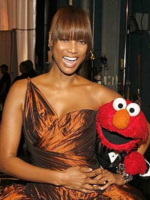 TYRA & ELMO  photo | Tyra Banks