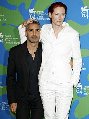 OPPOSITES ATTRACT photo | George Clooney, Tilda Swinton