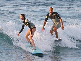 Cameron Diaz & Kelly Slater: Surfing Buddies