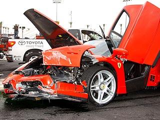 Eddie Griffin Ferrari Enzo Crash