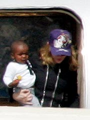 Madonna Lands in Malawi with Son David| Madonna