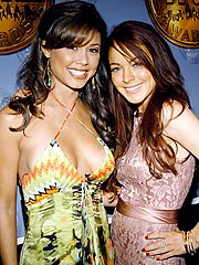 Lindsay Lohan & Vanessa Minnillo Knife Photos Hit Web