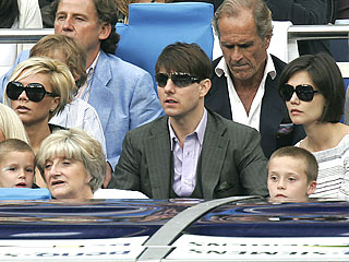 Tom Cruise, Katie Holmes Help Beckhams Say 'Adios' to Spain| David Beckham, Katie Holmes, Tom Cruise, Victoria Beckham