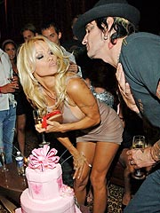Pam Anderson Parties All Night for 40th Birthday | Pamela Anderson