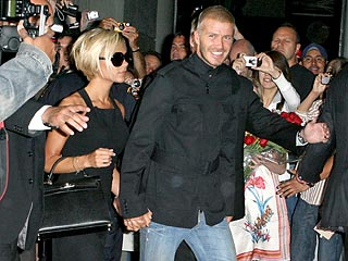 Victoria and David Beckham at LAX