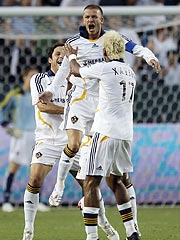 David Beckham Scores His First Galaxy Goal