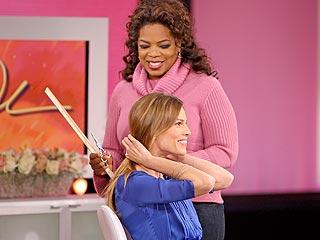 Oprah Winfrey Chops Hilary Swank's Hair