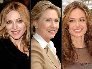 Hillary Clinton's (Distant) Cousin: Angelina Jolie | Angelina Jolie, Hillary Rodham Clinton, Madonna