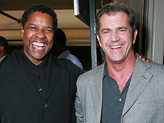 Mel Gibson Shows Up at American Gangster Premiere | Denzel Washington