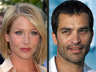 Christina Applegate and Her Ex Smooch at L.A. Club
