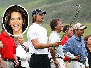 Halle Berry Links Up with Beau on Golf Course