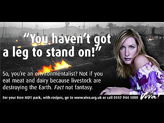 Heather Mills Uses Leg Joke for Latest Anti-Meat Ad